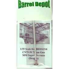 Barrel Depot BD35056 CN75-50 75mm Gun for M50 Super Sherman